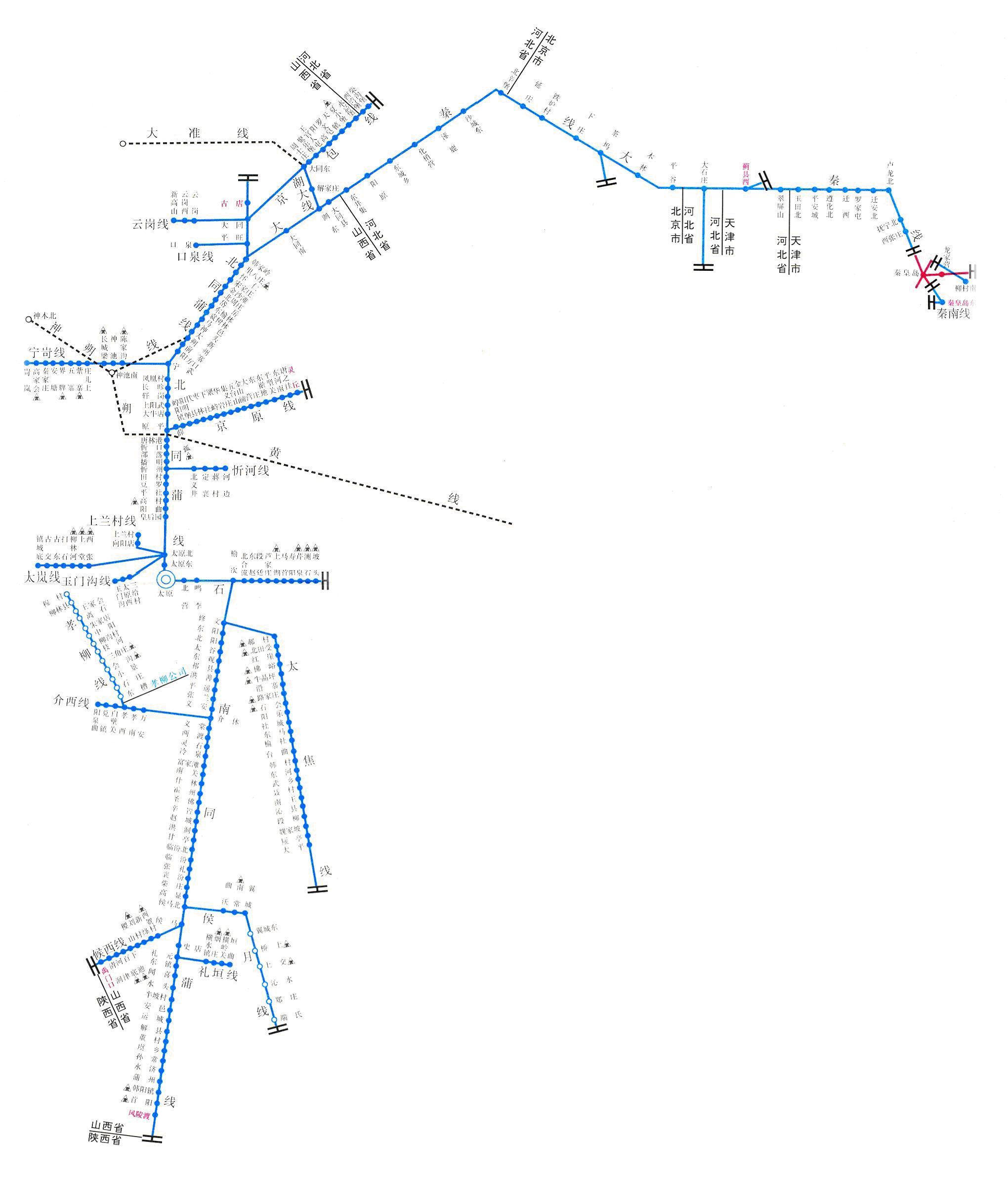 太原铁路局路线图