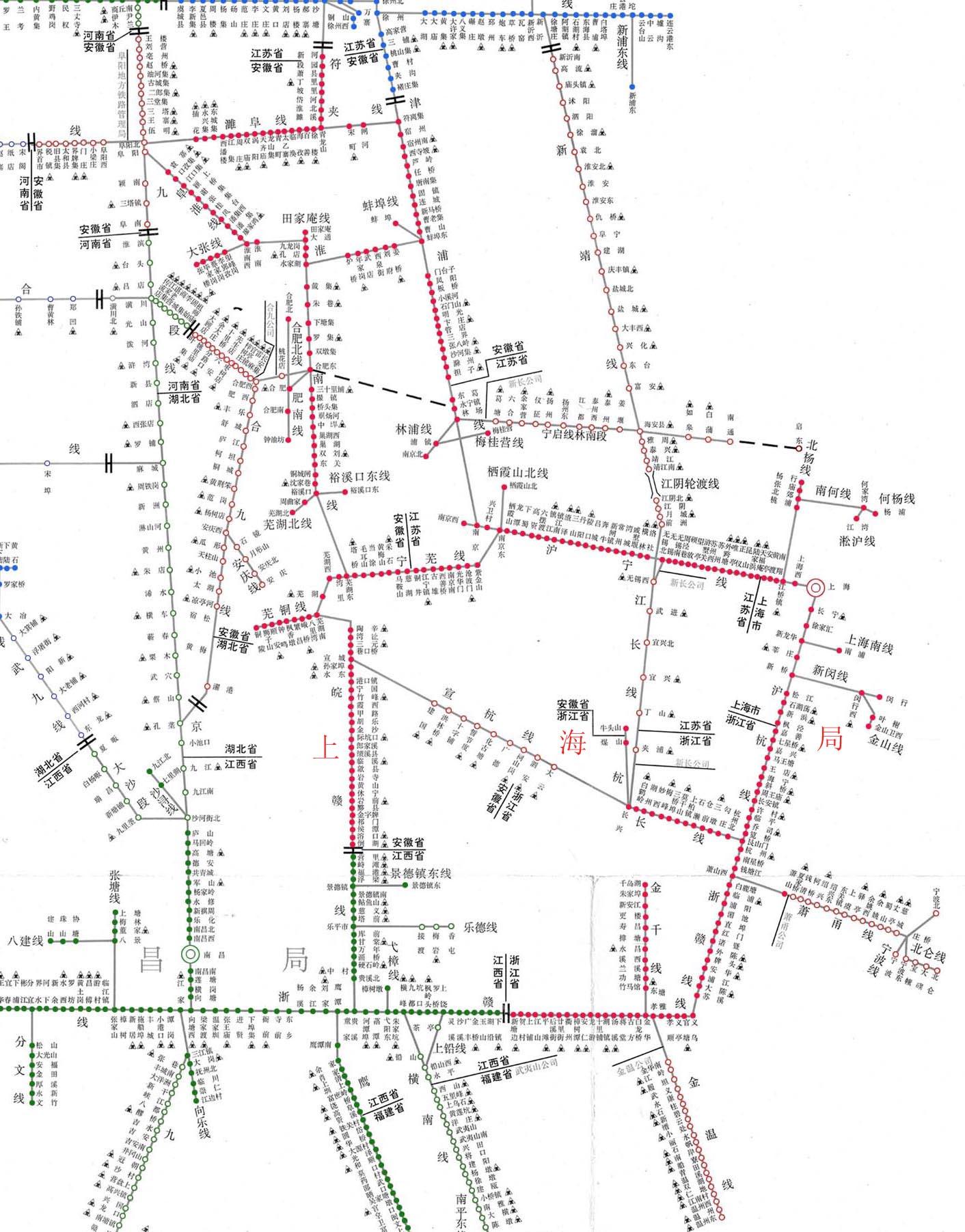 上海铁路局货运营业站示意图