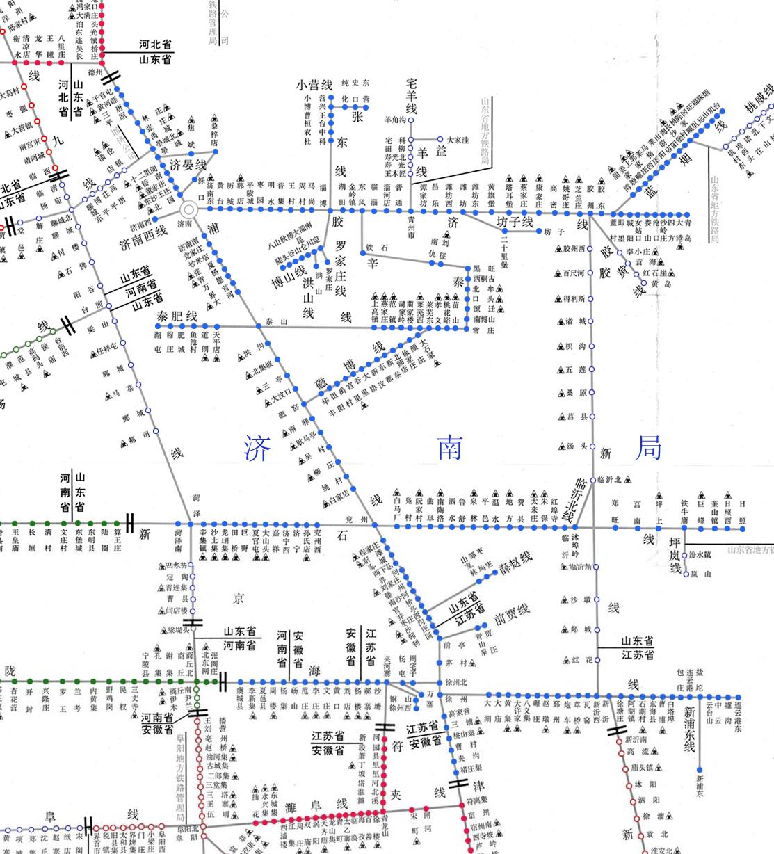 济南铁路局货运营业站示意图